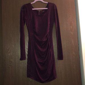 Express Metallic Sweater Dress